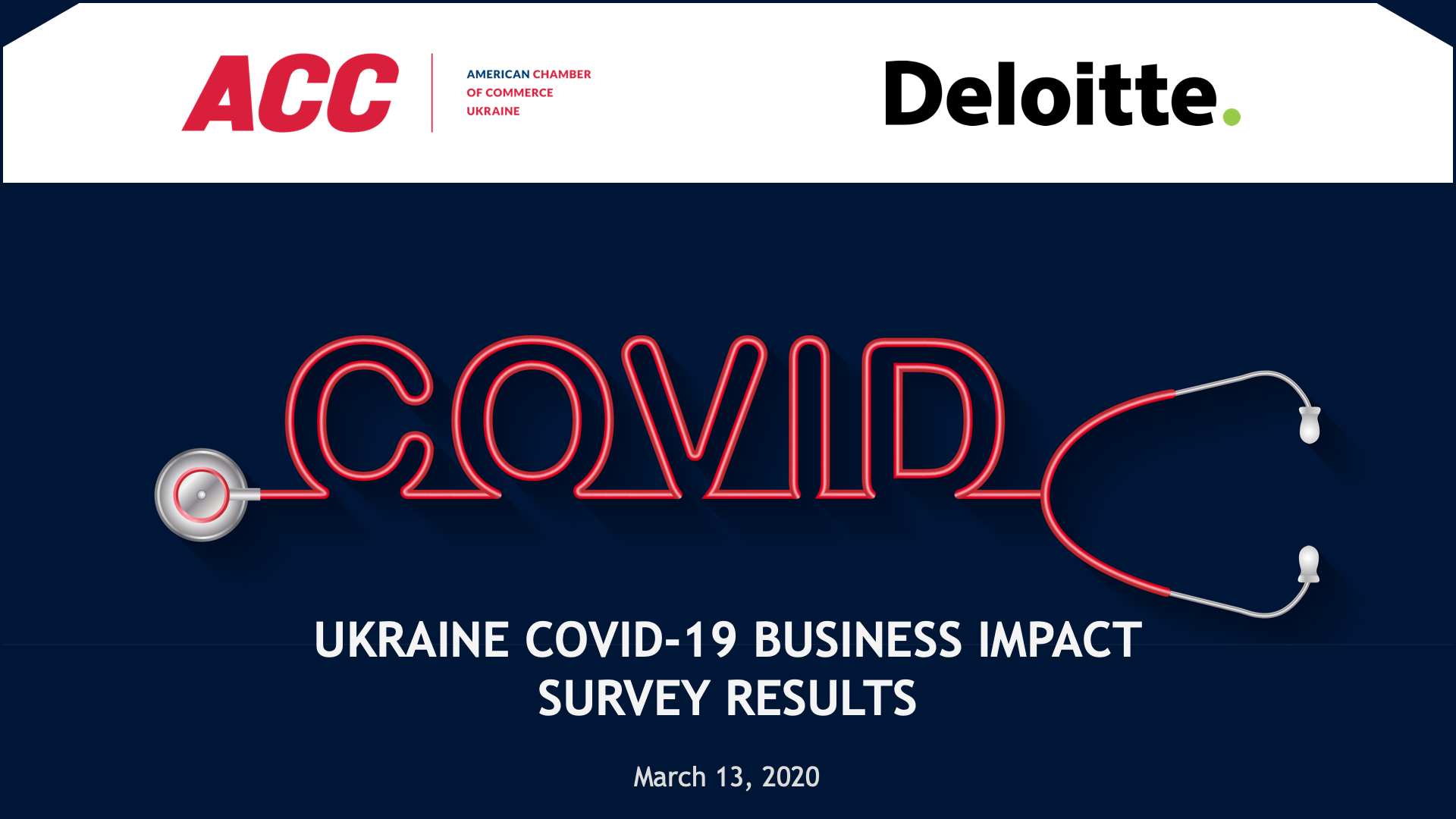Бізнес готується до зменшення обсягів продажів та грошового потоку в зв'язку з пандемією COVID-19 – дослідження Американської торговельної палати в Україні та «Делойт» в Україні