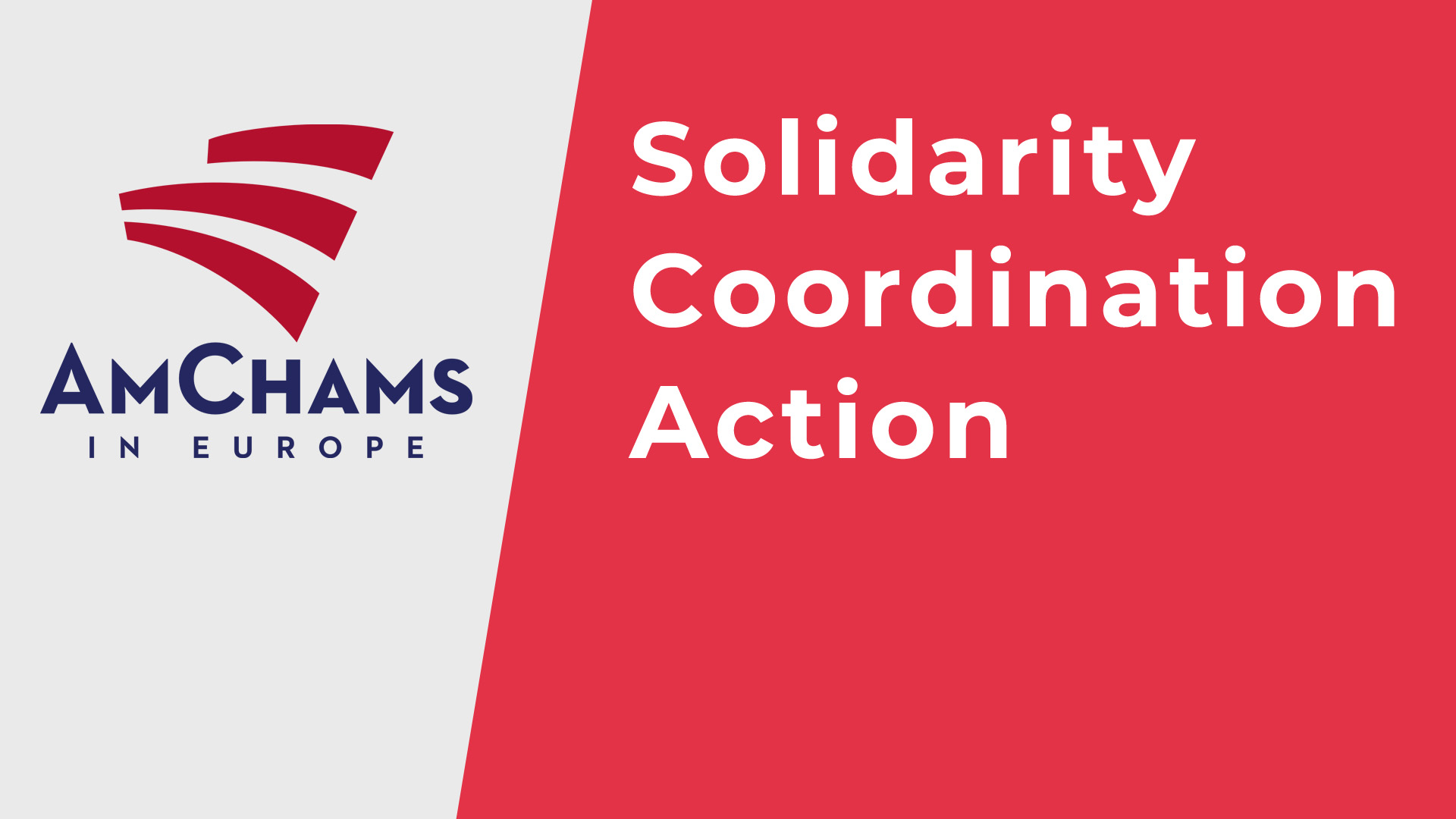 AmChams in Europe Joint Statement on Solidarity, Coordination, and Action