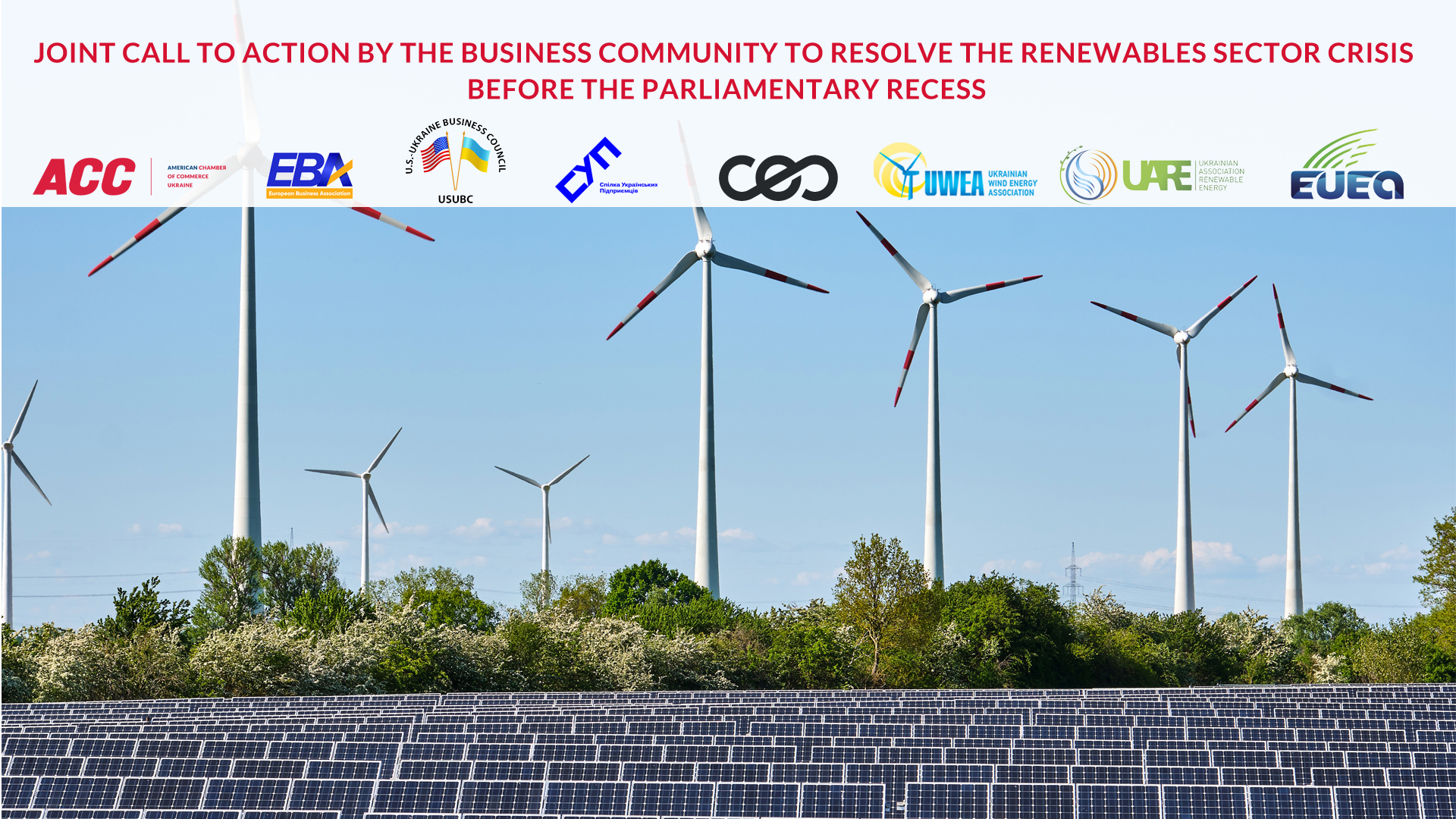 Joint Call to Action by the Business Community to Resolve the Renewables Sector Crisis Before the Parliamentary Recess