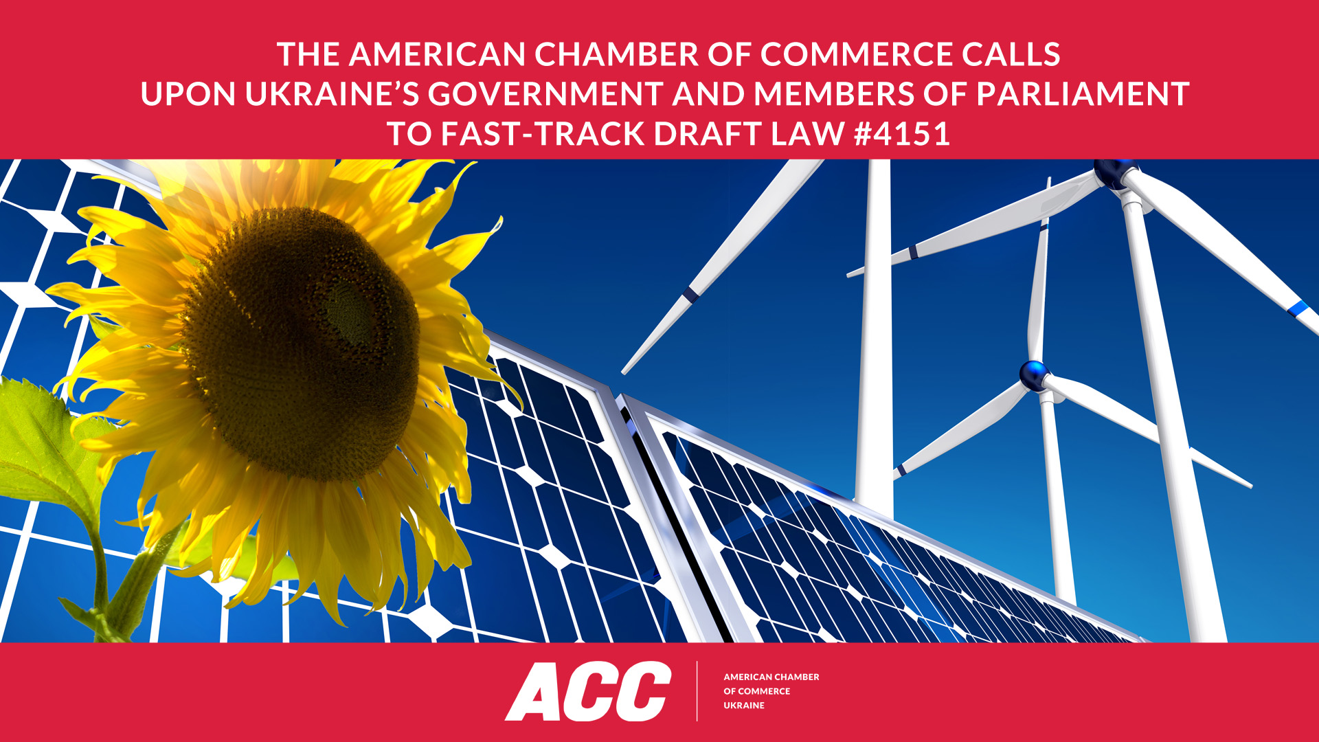 The American Chamber of Commerce Calls upon Ukraine's Government and MPs to Fast-Track Draft Law #4151