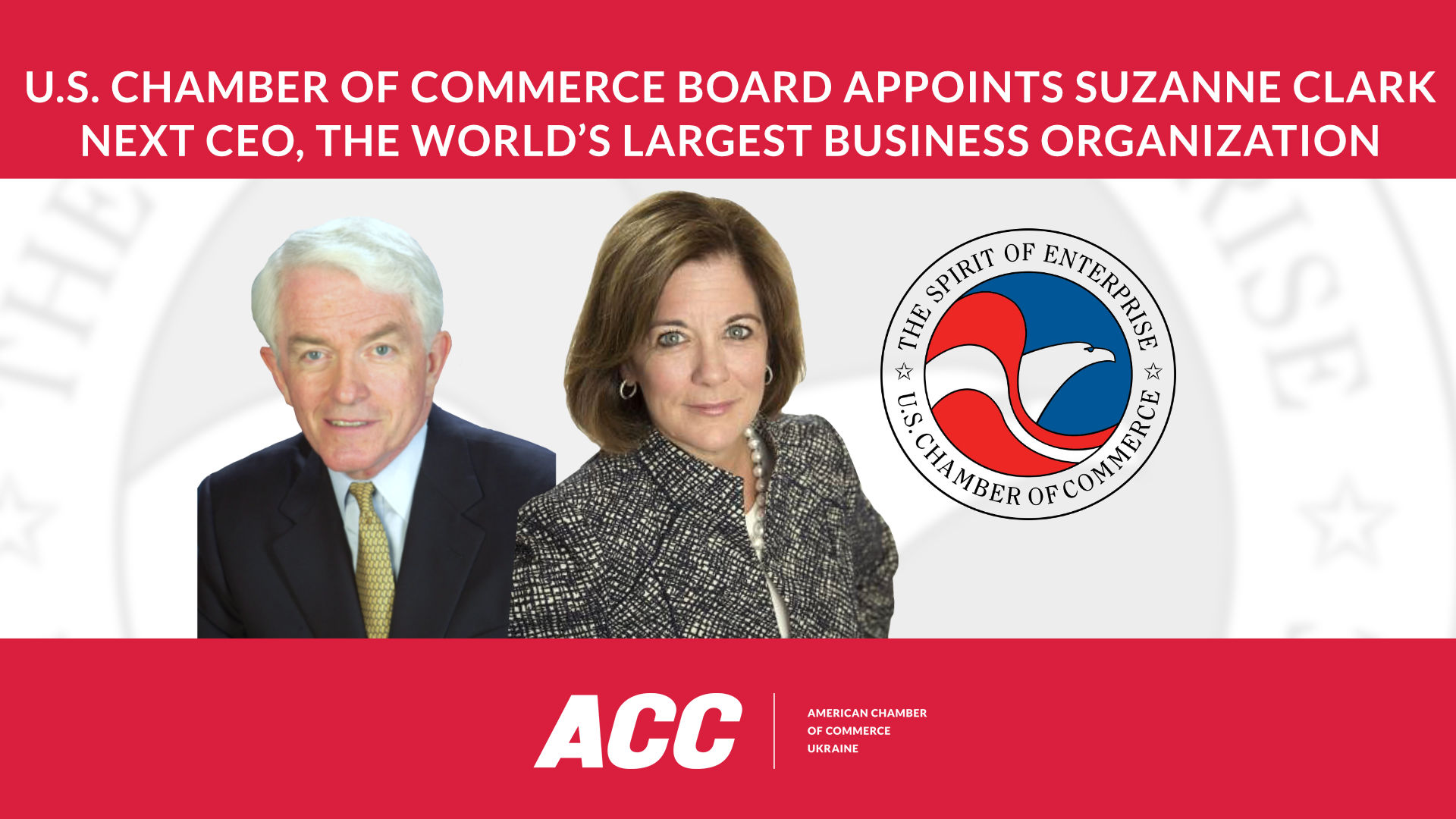 U.S. Chamber of Commerce Board of Directors' Executive Committee Appoints Suzanne Clark Next CEO
