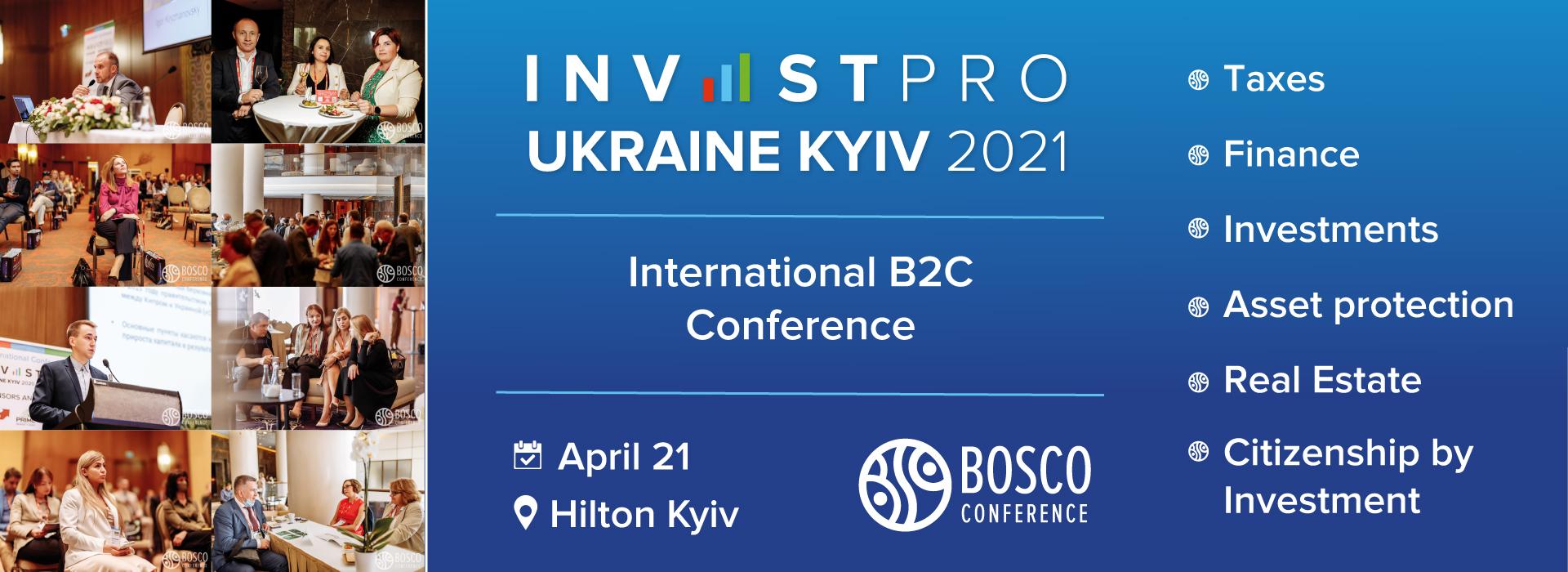 International conference InvestPro Ukraine Kyiv 2021
