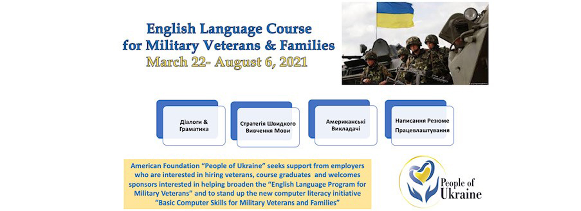 English Language Course for Military Veterans & Families