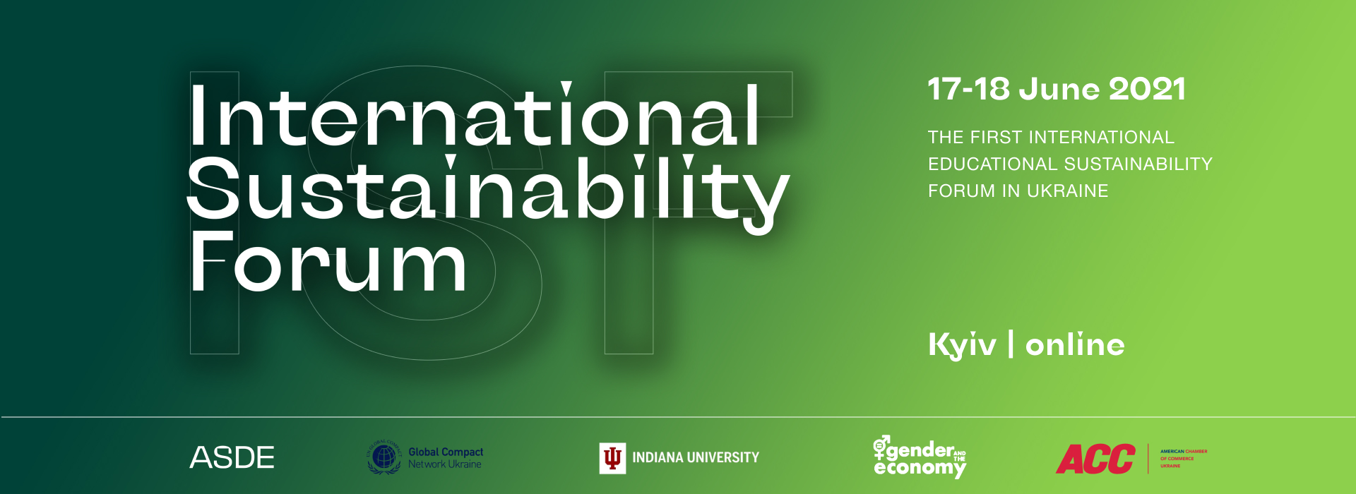 The First International Sustainability Forum Will Take Place In Ukraine