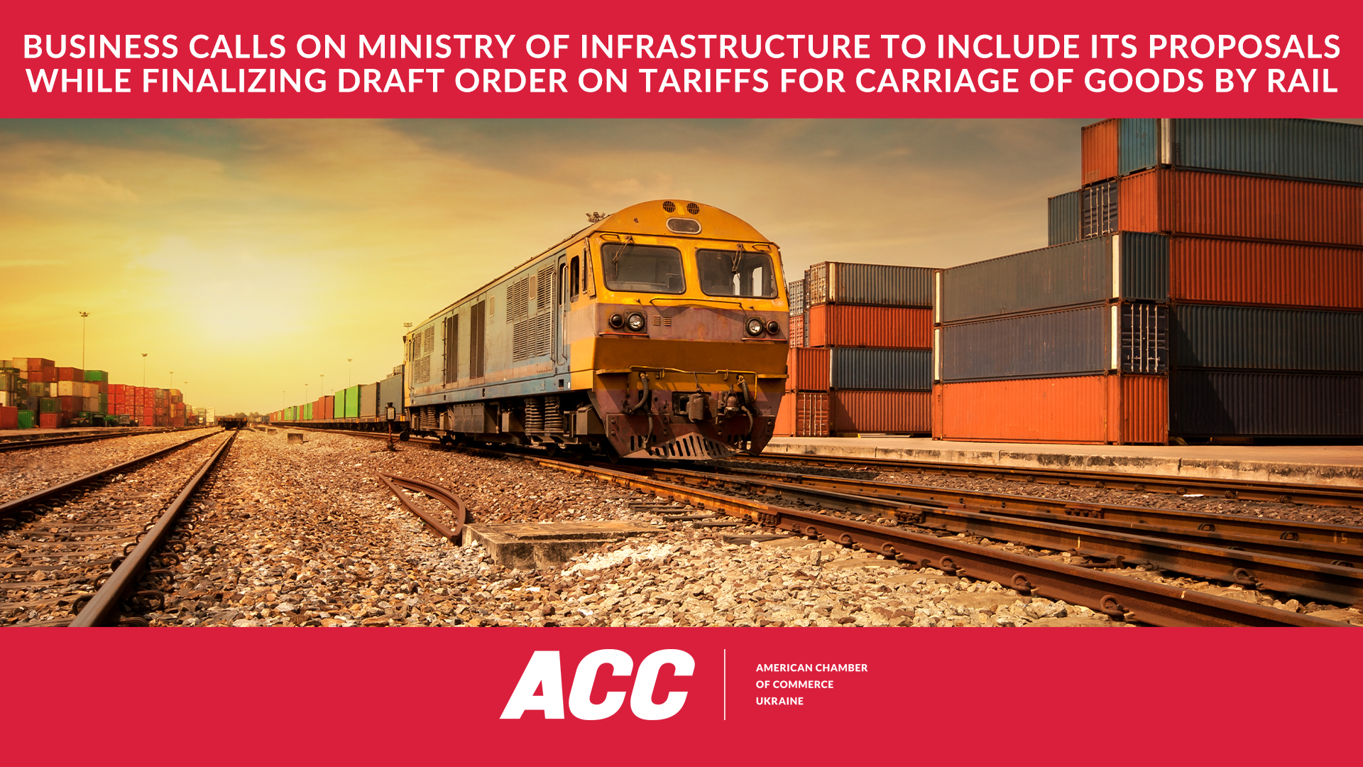Business Calls on Ministry of Infrastructure to Include its Proposals while Finalizing Draft Order on Tariffs for Carriage of Goods by Rail