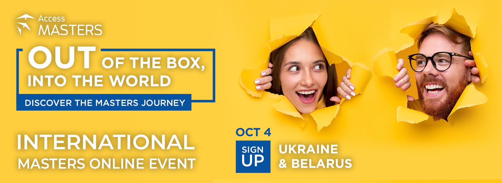 Access Masters Online Event in Ukraine and Belarus